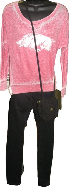 Get ready for the Razorback games! This entire outfit can be found at Martin's in Hope, or call 1-800-952-2251.