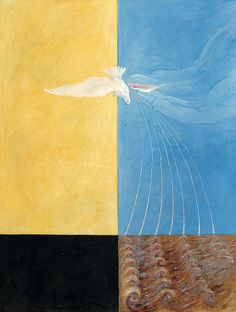 Hilma af Klint (Swedish, 1862-1944), The Dove, No. 4, 1915. Oil on canvas, 152 x 115.5 cm.