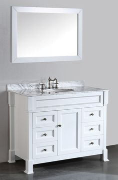 43'' Bosconi SB-278WH Contemporary Single Vanity