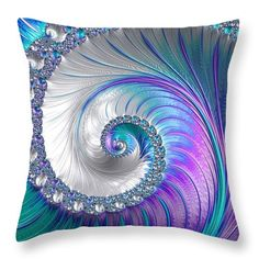 Spiral Throw Pillow featuring the photograph Spiralling Fractal Spring by Mo Barton
