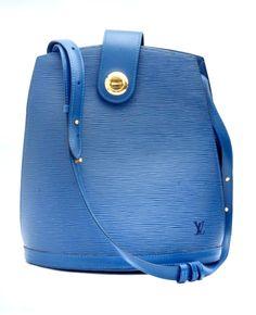 Louis Vuitton Cluny Blue Epi Shoulder Bag