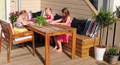 Praktisk putekasse på en helg - Byggmakker Garden Storage Bench, Bench With Storage, Garden Benches, Outdoor Furniture Sets, Outdoor Decor, Conference Room, Home Decor, Gardening, Porches