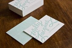 Molly Jacques Calligraphy Business Cards | Design & Photo: Molly Jacques | Letterpress Printing: Sugar Paper
