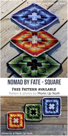 Nomad by Fate – Crochet Afghan Block Idea (Crochet Ideas) Crochet Blocks, Granny Square Crochet Pattern, Afghan Crochet Patterns, Crochet Squares, Crochet Granny, Crochet Motif, Crochet Stitches, Knitting Patterns, Knit Crochet