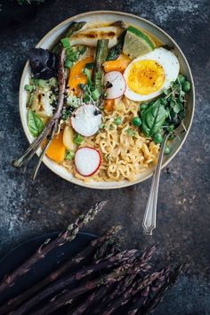 Swap in whatever vegetables you have on hand for a quick and comforting ramen soup! I can't believe something so quick and easy could be this flavorful!