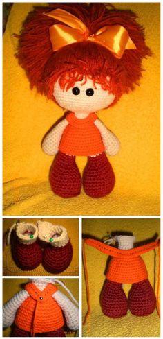 Amigurumi Red Headed Doll Crochet Tutorial #amigurumi #amigurumidoll #amigurumipattern #amigurumitutorial #crochettoy #crochettutorial