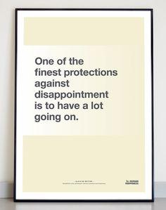 Typographic quote poster Alain de Botton door TheHumanHappiness, €16.00