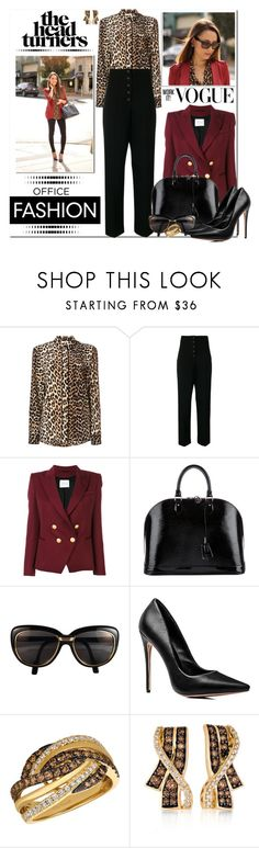 """December 2017 In the Office #2"" by msmith801 ❤ liked on Polyvore featuring Ganni, STELLA McCARTNEY, Pierre Balmain, Louis Vuitton, Cartier and LE VIAN"