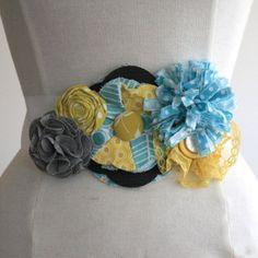 DIY fabric flower belt