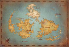 Final Fantasy VII World Map // Vintage Style Art Print // Gamer ...