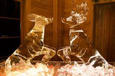Christmas Wedding:  Reindeer sculptures!- if you love reindeer then take a look at LuxLykReindeer Reindeer Hire - www.luxlykreindeer.co.uk