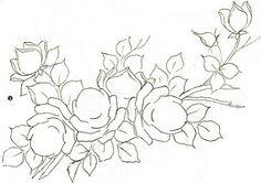 flores para pintura em tela - Pesquisa Google