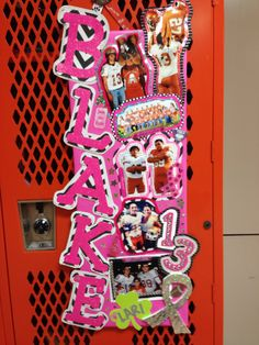 football locker decoration thinkpink - Locker Decoration Ideas