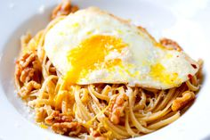 Brown Butter Pasta with Walnuts and Fried Egg