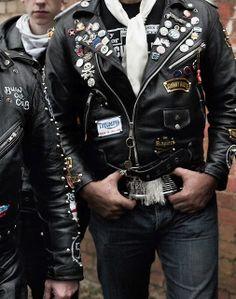 lovinharustar: Pride and Glory _Horst A Friedrichs Cafe Racer Leather Jacket, Vintage Leather Jacket, Biker Leather, Leather Jackets, Vintage Biker, Leather Belts, Pride And Glory, Riders Jacket, Teddy Boys