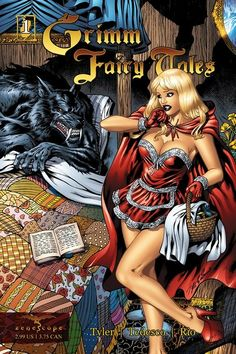Grimm Fairy Tales - Comics by comiXology Fairytale Fantasies, Fairytale Art, Grimm Fairy Tales Comic, Grimm Series, Nursery Rhyme Characters, Disney Tattoos, Fantasy Girl, Red Riding Hood, Comic Covers