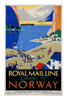 Royal Mail Cruises, Norway Posters par Daphne Padden sur AllPosters.fr