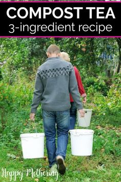 Learn how to make the best 3-ingredient compost tea recipe in this gardening tutorial. Also get tips for how to use this liquid nutrition in your backyard garden after youre done making it! Easy DIY for beginners. #garden #compost #composttea #gardening #gardener #gardeningtips #gardeningtutorial #howto #diy #backyardgarden #homestead #homesteading #homemaking #composttearecipe