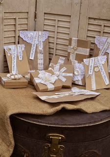 Artistic Icing: brown paper packages tied up with string ... these are definitely a few of my favorite things