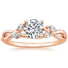 14K Rose Gold Willow Diamond Ring from Brilliant Earth
