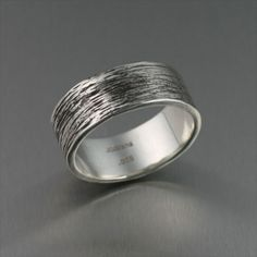 Attract all the right attention with this handsome #Oxidized Sterling Silver Men's Ring. #mensjewelry #mensrings $185
