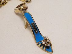 Juicy Couture Charm High Heel Slider Crystal Goldtone #JuicyCouture #Traditional
