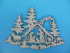 Fensterbild Heilige Familie  ca. 33 cm  Christbaumschmuck Weihnachtsdekoration