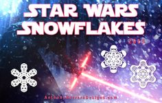 Star Wars character snowflakes - Free to Download for non-commercial use. Note - on pattern page, scroll to the bottom for links to 2014, 2013, 2012 designs.