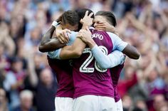 Rudy Gestede of Aston Villa - Rotherham Aston Villa Fc, Jack Grealish, Best Club, Pinterest Marketing, Social Media Marketing, Soccer, Football, Couple Photos, Futbol