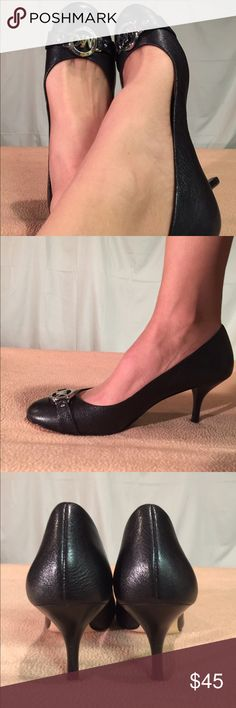 New MMK Black Leather/Silver Accented pumps These shoes are Brand New/Never Worn and are in PERFECT CONDITION. The heel height of this shoe is 3 inches tall. MICHAEL Michael Kors Shoes Heels