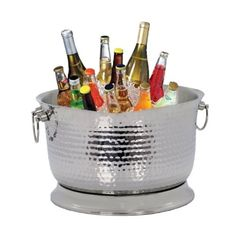 Artisan Metal Works 17-Quart Insulated Stainless Steel Beverage Tub by Artisan Metal Works. $91.83. 17-Quart capacity. Keeps beverages cold for up to 6 hours. Insulated to prevent exterior moisture condensation. Hammered stainless steel Beverage tub