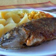 Fotografie receptu: Pikantní pstruh Sushi, Steak, Pork, Cooking Recipes, Sweets, Chicken, Baking, Fish, Kale Stir Fry