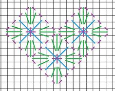 Double Crossed Diamond needlepoint stitch. A picture, graph, how to work this stitch, how difficult and other names are included on this page.
