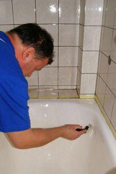 Renovácia povrchu vane 7 Vane, Corner Bathtub, Backyard, Bathroom, Irish, Board, Creative, Bath Room, Yard