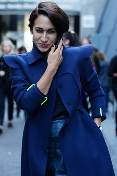 Finally found a photo of the haircut I want, via The Sartorialist, except mine will curl however it would like to curl!