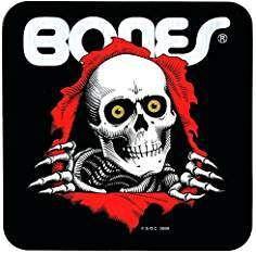 Bones Skull Skateboard Decal