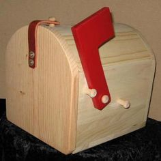 Toy Wooden Mail Box W / Mail