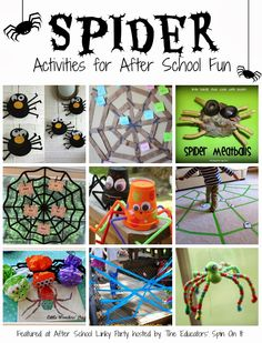 Spider Activities for kids to create for Halloween Fun.