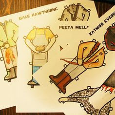 The Hunger Games paper dolls. :)
