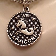Capricorn Pendant  Very cute and works well with everything. Charm is alloy and 16 inch chain is stainless steel . I'm sorry but I don't trade Jewelry Necklaces
