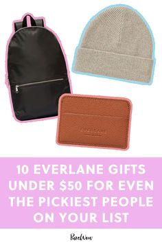 10 Everlane Gifts Under $50 for Even the Pickiest People on Your List #purewow #fashion #holiday #shopping #style #clothing #holiday-gg-2019-fashion-finds Christmas Fashion, Christmas 2019, Cool Street Fashion, Street Style, Leather Card Case, Fall Fashion Trends, Winter Fashion, Guys And Girls, Travel Size Products