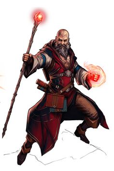 Kadran Gualwohe, a mage mainly skilled in the body, craft, fire and spirit lores and travelling the dimensions of the universe, activate his forces when a daemon appears.
