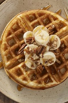 Belgian-Style Yeast Waffles - This classic yeasted waffle recipe produces waffles that are wonderfully crisp outside, and creamy-smooth and moist inside. Even when cooling, they retain their wonderful texture. But don't worry, their flavor is so delightful they won't spend much time on the serving plate!