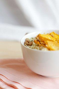 #insalata tiepida #zucca cous cous e #lenticchie