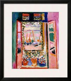 Open Window, Collioure, 1905 Framed Art Print by Henri Matisse at Art.com
