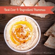Best Ever 4-Ingredient Hummus