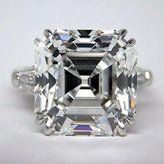 2.00 Carat GIA Certified D-E VVS1 Asscher Cut Diamond Engagement Ring Platinum #TheDiamondSpecialist #3Stone
