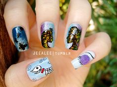 nail art  | via Tumblr . http://www.amazon.com/dp/B007FMC8I8/?tag=googoo0f-20 nail art -  halloween's day,  #nail halloween -  party  minimal