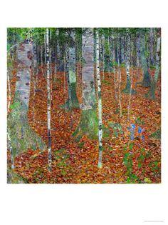 Buchenwald (Beech Trees), 1903 by Gustav Klimt