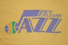 Vintage 1970s 70s New Orleans Jazz Utah NBA Basketball Shirt